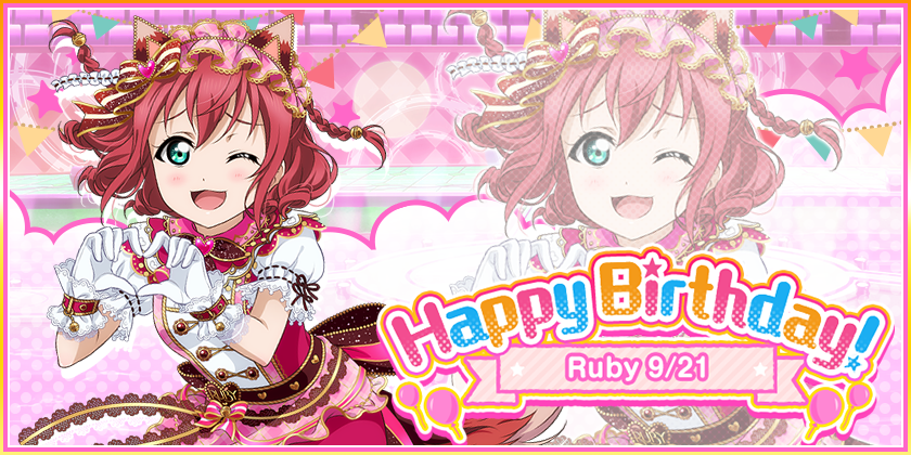 9/21 is Ruby's birthday!